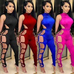 club wear jumpsuits for women 2021 - Women Designers Clothes 2021 jumpsuits elegant over alls for fashion women's wear sexy club hollow out nightclub BODYSUIT jumpsuit plus size