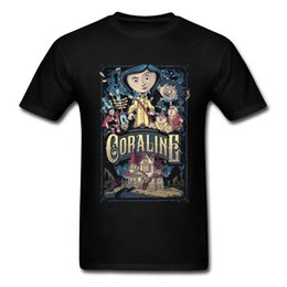 horror shirts Canada - T-shirt Coraline & the Secret Door Men T Shirts Coraline Secret Door Mens Tshirt Horror Fantasy Animation Movie Tops Tees Custom 210324
