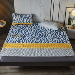 Wholesale Factory direct sales luxury fashion summer latex mat three piece set size 150 * 200cm pillow case two