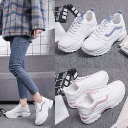 2021 Tennis Shoes For Women Mesh Breathable Casual Sneakers Ladies Solid White Fashion Training Sport Tenis Feminino on Sale