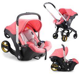 Kinderwagen # 4 in 1 Carseat Kinderwagen Bron Babywagen Reisesystem Falten Tragbare Warenkorb mit Autositz Komfort 0-4 Jahre alt im Angebot