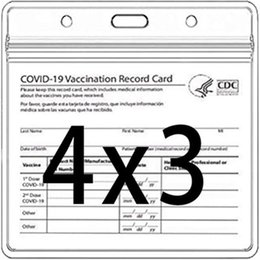 CDC Vaccination Card Protector 4 X 3 Inches Immunization Record Vaccine Cards Cover Holder Clear Vinyl Plastic Sleeve with Waterproof Type Resealable Zip on Sale