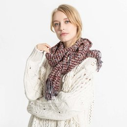 pashmina scarves for women UK - wrap fashion cashmere like scarf for men and women in autumn winter