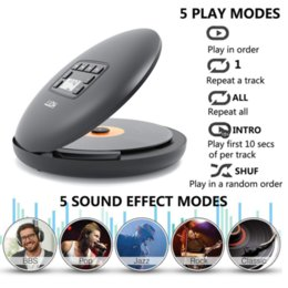 HOTT CD204 Bluetooth Portable CD Player with Rechargeable Battery LED Display Personal Walkman To Enjoy Music on Sale