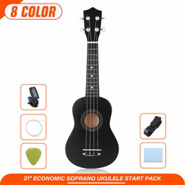 gong instruments NZ - 21 inch Mini Ukulele 4 Strings Ukulele Colorful Mini Guitar Musical Educational Instrument Toys for Kids Children Gift Beginners Q0313
