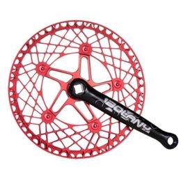 Bike Freewheels & Chainwheels 1 Set Folding Crank Retro Square Hole 130bcd Sprocket Spoke Main Chain Repair Tool 130mm Cycling Accessories on Sale