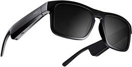 Wholesale Frames Tenor - Rectangular Polarized, Bluetooth Audio headphone Sunglasses Black