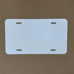 Venta al por mayor de Suministros al por menor Placa de sublimación Placa de aluminio Aleación de aluminio Hoja en blanco 4/2 Agujeros Placas 29.5 * 14.5cm A02