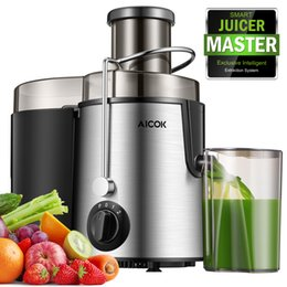 AICOK Juicer Extractor High Speed for Fruit and Vegetable Centrifugal Machine Powerful 400 Watt with Cleaning Brush[Energy Class A+++] on Sale