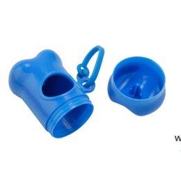 Wholesale Pet Dog Supplies Poop Bag Dispenser Lovely Bone Shape Case for Pooper Scooper Waste Bags Holder Clean up Eco-friendly DHE6442