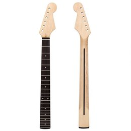 Wholesale Electric Guitar Neck Maple from Canada 22 Frets Rosewood Fingerboard Bolt on C Shape Clear Satin