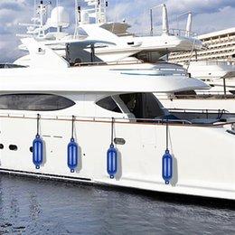 Опт Надувная надувная яхта надувной поплавки синий ПВХ для судовой площадки против столкновения против высокой прочности