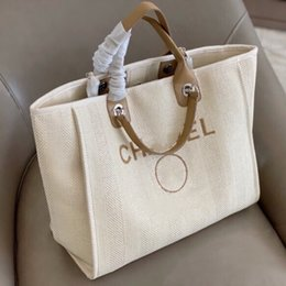 Wholesale 2021 Fashion Classic Leather Handle Patchwork Canvas Bag Large Capacity Mommy Bag Shopping Tote High Quality Beach Bag