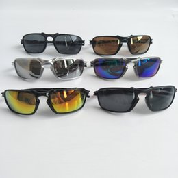 Wholesale sports motorcycles resale online - Men Fashion Sunglasses Sports Motorcycle Spectacles UV400 Protection Women Dazzle Colour Cycling Sport Outdoor Sun Glasses
