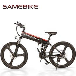 Опт [ЕС stock] Samebike Lo26 500 Вт Велоспорт Электрический велосипед 21 Скорость Складной 48 В 10,4ах 30 км / ч Макс Скорость Ebike MTB Велосипед Xiaomi Youpin