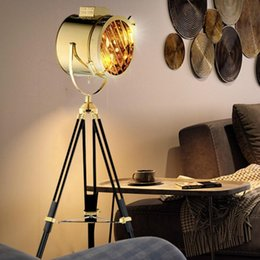 silver floor lamps Australia - Nordic American Creative Studio Retro Silver Golden Floor Lights Tripod Lamps Room Standing Light ZM1112