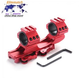 Wholesale Red mounting ring bracket 25.4mm   30mm mounting ring quick release cantilever 20mm Weaver dual rifle ring sight mount