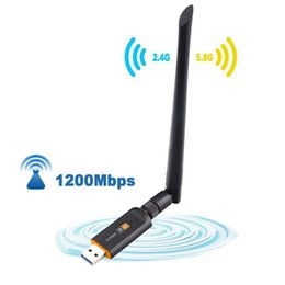 USB 3.0 1200Mbps Wifi Adapter Dual Band 5GHz 2.4Ghz 802.11ac Antenna Dongle Network Card For Laptop Desktop on Sale