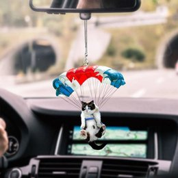 Wholesale fly cars for sale - Group buy Flying Cat Dog Pendant Car Cute Hanging Ornaments Auto Interior Rear Mirror Home Room Wall Backpack Decoration Decorations