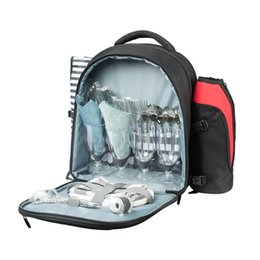 designer cooler bags Australia - Travel Picnic Backpack Portable Outdoor Camping Cutlery Storage Organizer With Blanket Waterproof Large Cooler Bag Bags