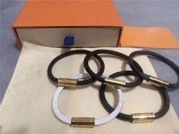venda por atacado Mulheres Homens Pulseira Moda Braceletes Moda Unisex Jóias Livre Tamanho Pulseira Buckle Leather Jóias 5 Cores