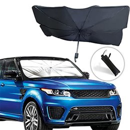 Опт Автомобильный лобовый стенд навеса | Складные отражательские зонтики Зонтики Зона для автомобилей, блоки УФ Rays Sun Visor Protector