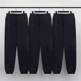 justin bieber sweatpants Australia - capris Best Version Black Heavy Cotton Embroidery Trousers Winter Justin Bieber Sweatpants Three-Pocket Styling