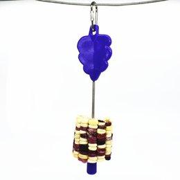 Support en acier inoxydable bâton fruit brochette d'oiseau Traitement des oiseaux Perroquet jouet Cage Accessoires 1402 V2 en Solde