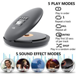 HOTT CD204 Rechargeable CD Player Bluetooth Portable CD Player with Rechargeable Battery LED Display Personal CD Walkman To Enjoy Music on Sale