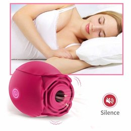 Wholesale Rose Sucking Licking Female Sex Toys Clitoris Nipples Stimulator G-Spot Vibrator Masturbation Sex Products For Women With Box