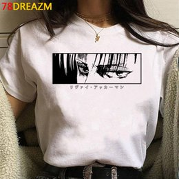 Wholesale titan men resale online - 2021 Hot Anime Final Season on Titan T Shirt Men Kawaii Summer Tops Titans Attack Graphic Tees Levi Harajuku Tshirt Male