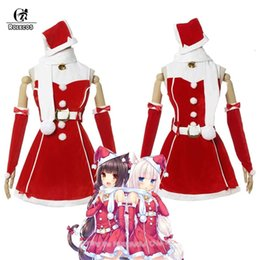 Wholesale girl sexy hat for sale - Group buy ROLECOS Women Christmas Costume Nekopara Game Cosplay Costume Vanilla Christmas Hat Cosplay Chocola Sexy Dress for Women Girl