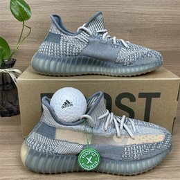 Top Quality Kanye West Mens Womens Running Shoes Israfil Black Cream White Yecheil Yeezreel Hyperspace Lundmark Static Reflective Zebra Outdoor Sneakers With Box on Sale