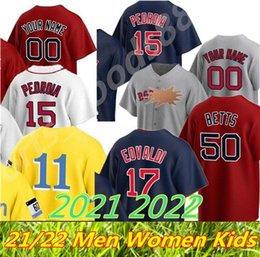 Top Personalizado 2021 2022 Boston 34 David Ortiz Jersey 99 Alex Verdugo Ted Williams J.D. Martinez Chris Venda BogAerts Benintendi 11 Rafael Elemors jerseys de beisebol em Promoção