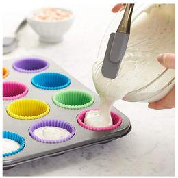 Опт 7см силикагель-гель вкладыши выпечки плесень силиконовые булочки чашки выпечки чашки торт чашки кекс кухонный инструмент для выпечки CPA3218