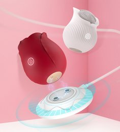 Rose Vibrator Clitoral Ssanie Wibratory Intense Język ssący Lick Clit Stimulator Sutek Masażer Sex Zabawki Dla Kobiety Doal YouPin High
