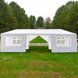 Опт На открытом воздухе 3 x 9m навес для вечеринки свадебные палатки тени водонепроницаемые палатки пикник беседка павильон укрепляет события восемь боковых стендов два двери