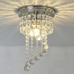 Wholesale Shape Crystal Porch Sparkling LED Ceiling Lamp Chandelier Hallway Lighting