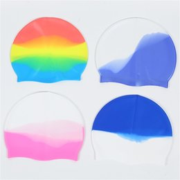Swimming Cap Wholesale Multicolor Unisex Silicone for Long Hair Waterproof Diving Cap Professional Swim Hat Keep Hair Dry adult G3367IC on Sale