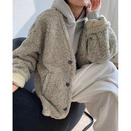 ingrosso i cappotti di wollen-Trench Women Wollen Wollen Blend Blend Cappotto Inverno Agnello Sindaco e sottile All Match All Match Blends Casual Donne Blends