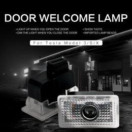 Tesla Model 3 Model X S Y LED Araba Kapı Hoşgeldiniz Işık Projektör Logosu Ghost Gölge Lambası
