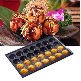 18 hoyos / 28 hoyos Comercial Takoyaki Máquina fabricante de máquina antiadherente para hornear para hornear placa fundida de aluminio octopos bola albóndiga a la parrilla 612 v2 en venta