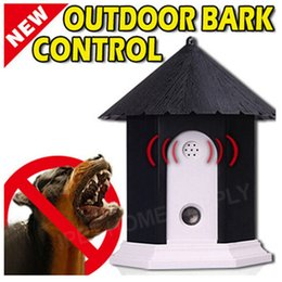 Outdoor Ultrasonic Pet Bark Control Device Barking Deterrents Equipment for Animals Dog Cat Driving Training Device Sea Shiping HHA1738 on Sale