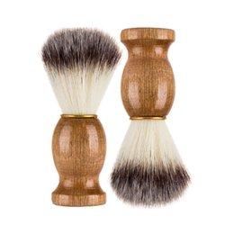 Wholesale Men Shaving Beard Brush Badger Hair Shave Wooden Handle Facial Cleaning Appliance Pro Salon Tool Safety Razor Brushes