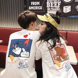 mouse fashion Australia - sleeve mouse cat and T-shirt short 2021 new summer Couple fashion
