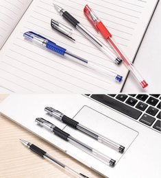 Discount tube red 18 Wholesale neutral carbon water-based pen 0.5mm European standard bullet needle tube black office pen ballpoint pen