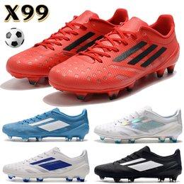 Опт Лучшие мужские футбольные туфли футбол X99 19,1 FG черный белый антрацит лимон яд вера синие розовые роскоши булочки мужские дизайнерские сапоги кроссовки