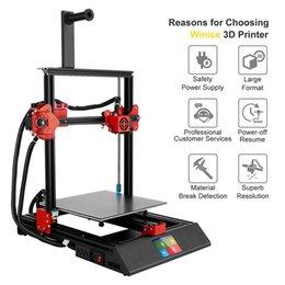 3,5-дюймовый экран автоматического выравнивания автоматического питания 3D-принтер Печать с алюминиевым нагретым кроватями. на Распродаже