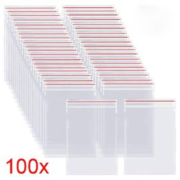 plastic designer bags Canada - 100pcs pack Resealable Bags Self Seal Clear Plastic Poly Bag Storage Package Reclosable Vacuum Fresh