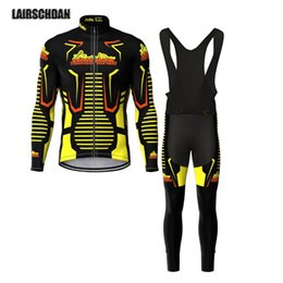 Wholesale Racing Sets LairschDan Tenue Cyclisme Homme Breathable Bicycle Sportwear Cycling Jersey Long Sleeve Set Road Bike Riding Wear Suit